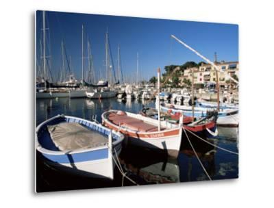 Fishing Boats in the Harbour, Sanary-Sur-Mer, Var, Cote d'Azur, Provence, France-Ruth Tomlinson-Metal Print