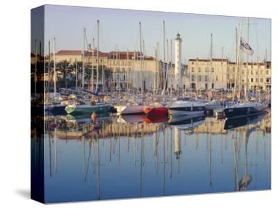 The Harbour in the Evening, La Rochelle, Poitou-Charentes, France-Ruth Tomlinson-Stretched Canvas Print