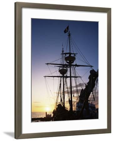 Pirate Ship in Hog Sty Bay, During Pirates' Week Celebrations, George Town, Cayman Islands-Ruth Tomlinson-Framed Photographic Print