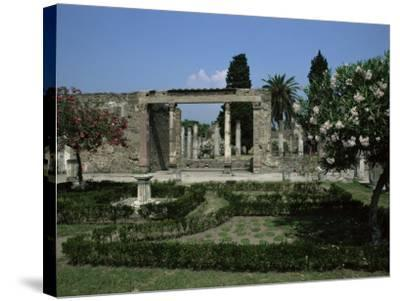 Gardens of Casa Di Fauna, Pompeii, Unesco World Heritage Site, Campania, Italy-Julia Thorne-Stretched Canvas Print