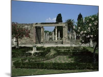 Gardens of Casa Di Fauna, Pompeii, Unesco World Heritage Site, Campania, Italy-Julia Thorne-Mounted Photographic Print