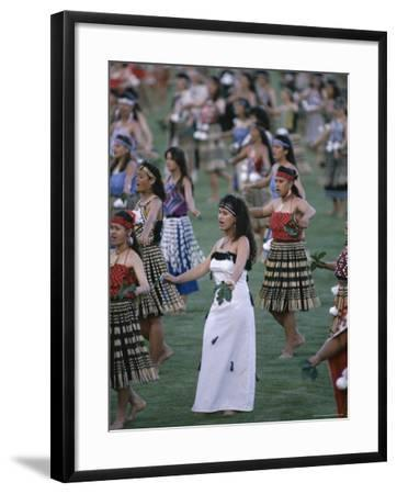 Maoris Perform Traditional Action Songs, Auckland, North Island, New  Zealand Photographic Print by Julia Thorne | Art com