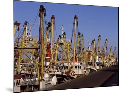 Fishing Fleet, Den Helder, Holland-I Vanderharst-Mounted Photographic Print