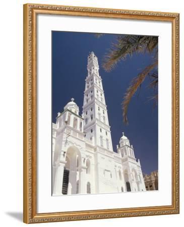 Al Mindhar Mosque, Tarim, Yemen, Middle East-Doug Traverso-Framed Photographic Print