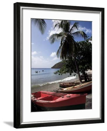Beach, Les Salines, Martinique, French Antilles, West Indies, Central America-Guy Thouvenin-Framed Photographic Print