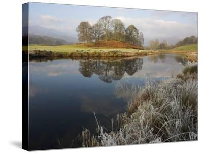 River Brathay in Winter, Near Elterwater, Lake District, Cumbria, England, United Kingdom-Steve & Ann Toon-Stretched Canvas Print