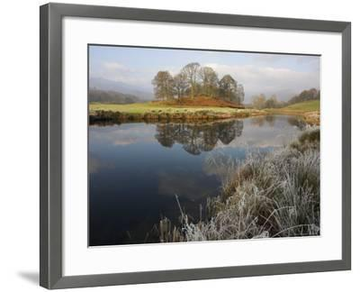 River Brathay in Winter, Near Elterwater, Lake District, Cumbria, England, United Kingdom-Steve & Ann Toon-Framed Photographic Print