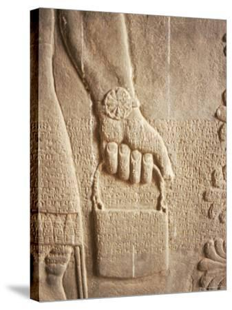 Close up of Carved Relief, Nimrud, Iraq, Middle East-Nico Tondini-Stretched Canvas Print