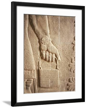 Close up of Carved Relief, Nimrud, Iraq, Middle East-Nico Tondini-Framed Photographic Print