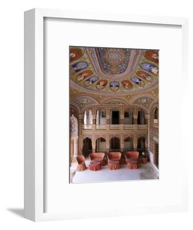 Grand Entrance Hall to the Fort at the Base of the Hill on Which the Fort Sits, Kuchaman, India-John Henry Claude Wilson-Framed Photographic Print