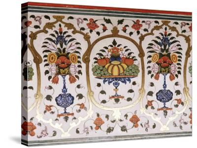 Detail Of The Fine Wall Paintings The City Palace Jaipur Rajasthan State India Photographic Print By John Henry Claude Wilson Art Com