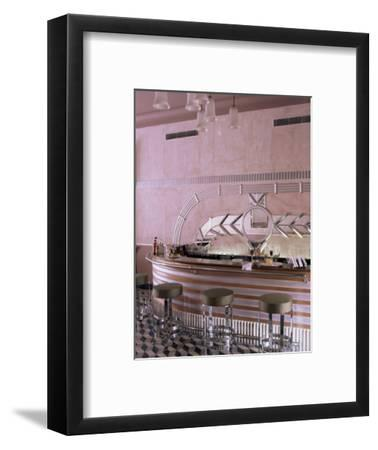Art Deco Period Bar Area, Usha Kiran Palace Hotel, Gwalior, Madhya Pradesh State, India-John Henry Claude Wilson-Framed Photographic Print