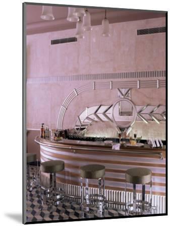 Art Deco Period Bar Area, Usha Kiran Palace Hotel, Gwalior, Madhya Pradesh State, India-John Henry Claude Wilson-Mounted Photographic Print