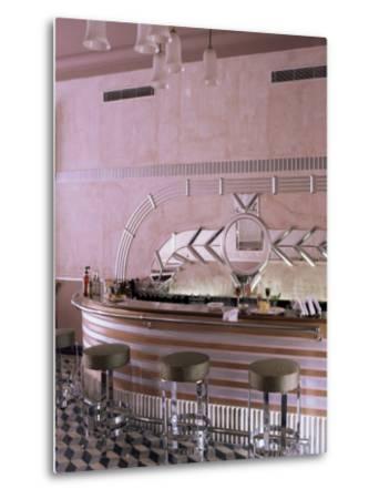 Art Deco Period Bar Area, Usha Kiran Palace Hotel, Gwalior, Madhya Pradesh State, India-John Henry Claude Wilson-Metal Print
