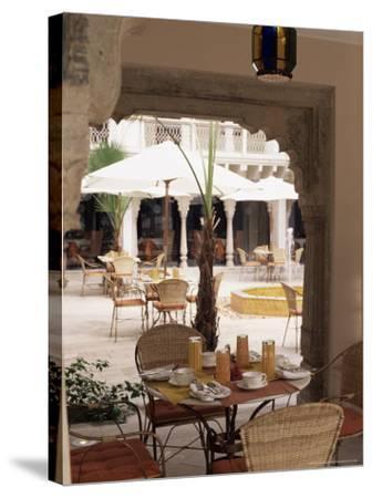 Dining Area, Usha Kiran Palace Hotel, Gwalior, Madhya Pradesh State, India-John Henry Claude Wilson-Stretched Canvas Print