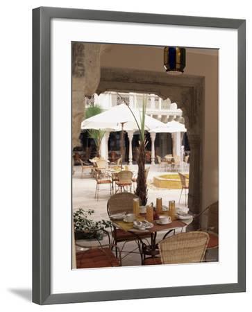 Dining Area, Usha Kiran Palace Hotel, Gwalior, Madhya Pradesh State, India-John Henry Claude Wilson-Framed Photographic Print