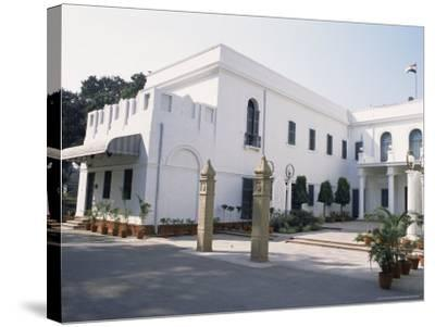 Birla House, in the Grounds of Which Mahatma Gandhi was Assassinated, Delhi, India-John Henry Claude Wilson-Stretched Canvas Print