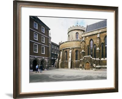 The Temple Church, Built Between 1185 and 1240, Fleet Street, London, England-Loraine Wilson-Framed Photographic Print