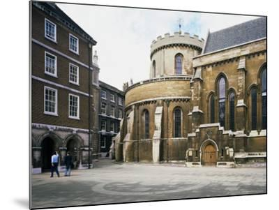 The Temple Church, Built Between 1185 and 1240, Fleet Street, London, England-Loraine Wilson-Mounted Photographic Print