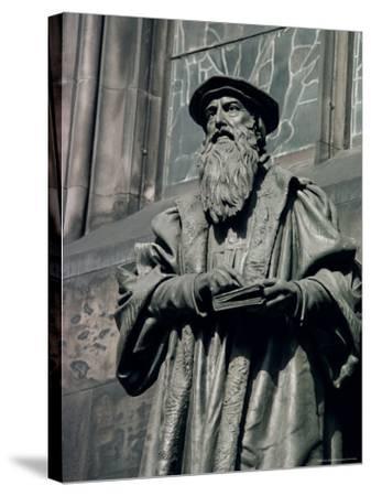 Statue of John Knox, Edinburgh, Lothian, Scotland, United Kingdom-Adam Woolfitt-Stretched Canvas Print