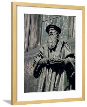 Statue of John Knox, Edinburgh, Lothian, Scotland, United Kingdom-Adam Woolfitt-Framed Photographic Print