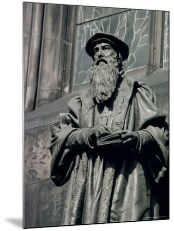 Statue of John Knox, Edinburgh, Lothian, Scotland, United Kingdom-Adam Woolfitt-Mounted Photographic Print