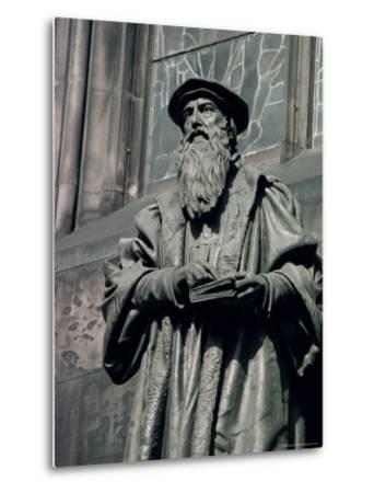 Statue of John Knox, Edinburgh, Lothian, Scotland, United Kingdom-Adam Woolfitt-Metal Print