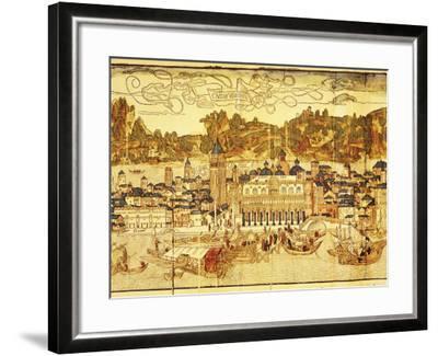 Early Panorama of Venice Dating from the 15th Century, Sansovino Library, Venice, Veneto, Italy-Adam Woolfitt-Framed Photographic Print
