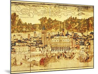Early Panorama of Venice Dating from the 15th Century, Sansovino Library, Venice, Veneto, Italy-Adam Woolfitt-Mounted Photographic Print