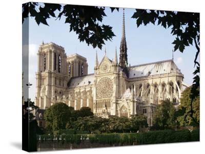 Cathedral of Notre Dame, Paris, France-Adam Woolfitt-Stretched Canvas Print