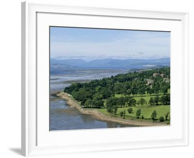 Dumbarton Castle on the North Shore of the River Clyde, Dunbartonshire, UK-Adam Woolfitt-Framed Photographic Print