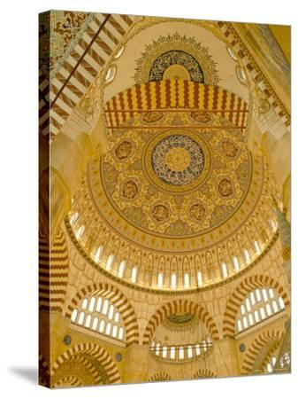 Interior of the Selimiye Mosque, Edirne, Anatolia, Turkey-Adam Woolfitt-Stretched Canvas Print