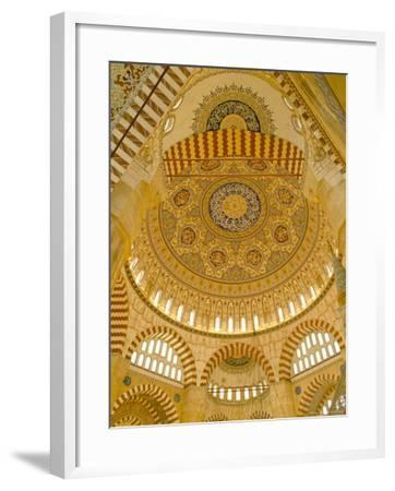 Interior of the Selimiye Mosque, Edirne, Anatolia, Turkey-Adam Woolfitt-Framed Photographic Print