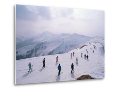 Skiers, Steinberkogel Area, Kitzbuhel, Austria-Adam Woolfitt-Metal Print