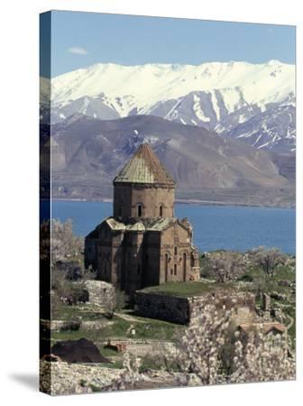 Armenian Church of Holy Cross, Akdamar Island, Lake Van, Anatolia, Turkey-Adam Woolfitt-Stretched Canvas Print