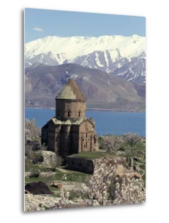 Armenian Church of Holy Cross, Akdamar Island, Lake Van, Anatolia, Turkey-Adam Woolfitt-Metal Print