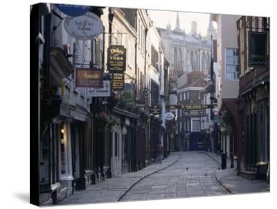 Stonegate, York, Yorkshire, England, United Kingdom-Adam Woolfitt-Stretched Canvas Print