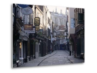 Stonegate, York, Yorkshire, England, United Kingdom-Adam Woolfitt-Metal Print