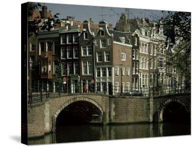 Junction of Reguliersgracht and Keizersgracht Canals, Amsterdam, Holland-Adam Woolfitt-Stretched Canvas Print