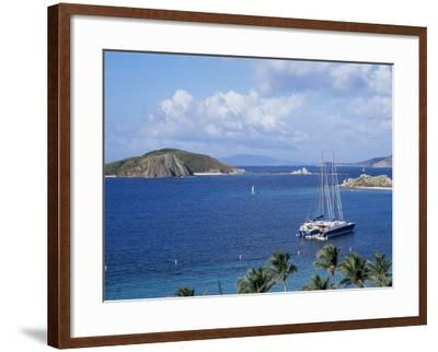 Boats off Dead Man's Beach, Peter Island Resort, British Virgin Islands-Alison Wright-Framed Photographic Print
