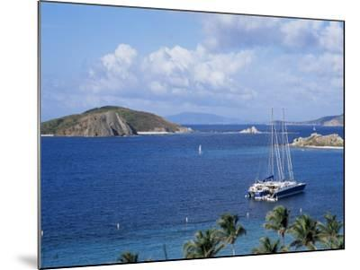 Boats off Dead Man's Beach, Peter Island Resort, British Virgin Islands-Alison Wright-Mounted Photographic Print