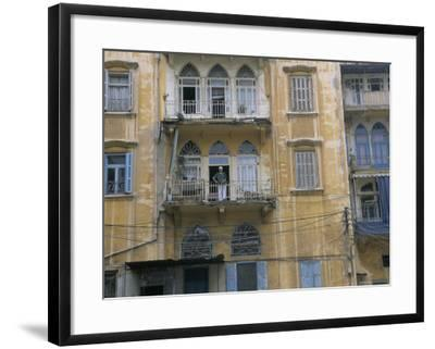Bombed Buildings and Rebuilding, Beirut, Lebanon, Middle East-Alison Wright-Framed Photographic Print