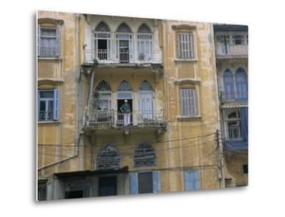 Bombed Buildings and Rebuilding, Beirut, Lebanon, Middle East-Alison Wright-Metal Print