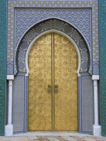 Ornate Doorway, the Royal Palace, Fez, Morocco, North Africa, Africa-R H Productions-Framed Photographic Print