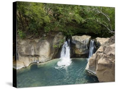 Waterfall on the Colorado River, Near Rincon De La Vieja National Park, Costa Rica-R H Productions-Stretched Canvas Print