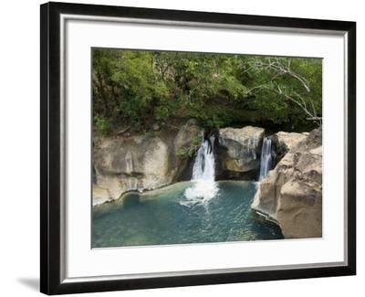 Waterfall on the Colorado River, Near Rincon De La Vieja National Park, Costa Rica-R H Productions-Framed Photographic Print