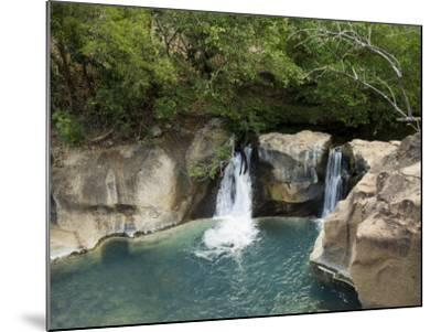 Waterfall on the Colorado River, Near Rincon De La Vieja National Park, Costa Rica-R H Productions-Mounted Photographic Print