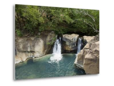 Waterfall on the Colorado River, Near Rincon De La Vieja National Park, Costa Rica-R H Productions-Metal Print