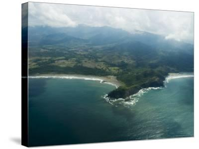 Nicoya Peninsula from the Air, Costa Rica, Central America-R H Productions-Stretched Canvas Print