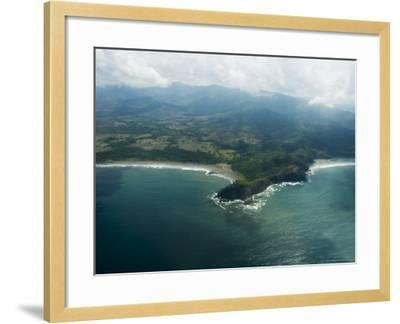 Nicoya Peninsula from the Air, Costa Rica, Central America-R H Productions-Framed Photographic Print